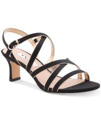 Nina Genaya Strappy Evening Sandal - Black