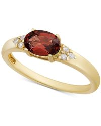Macy's - Rhodolite Garnet & Cubic Zironcia Ring In 18k Gold-plated Sterling Silver (also In Amethyst, Blue Topaz, Peridot Or Citrine) - Lyst