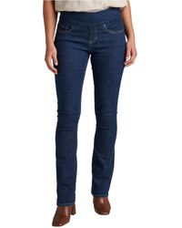 Jag Paley Mid Rise Boot Cut Pull-on Jeans - Blue