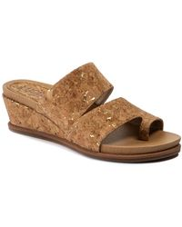 Lucca Lane Whitley Casual Wedge Sandals - Brown
