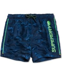 "Superdry Camouflage 23"" Swim Trunks, Created For Macy's - Blue"