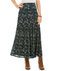 Style & Co. Tiered Mesh Maxi Skirt, Created For Macy's - Green