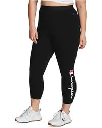 Champion Plus Size Authentic 7/8 Leggings - Black