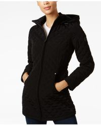 Laundry by Shelli Segal - Faux-fur-lined Quilted Coat - Lyst