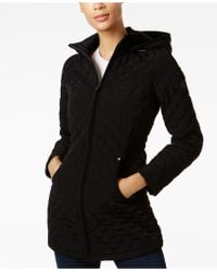 Laundry by Shelli Segal | Faux-fur-lined Quilted Coat | Lyst