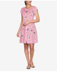 Ruby Rd. Plus Size Drs Dot Persian Puff Dress - Pink