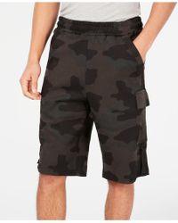 Sean John Camo Cargo Shorts - Black