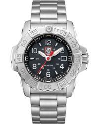 Luminox 3252 Navy Seal Stainless Black Dial Bracelet Watch - Metallic