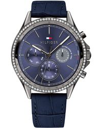 Tommy Hilfiger - Blue Leather Strap Watch 38mm, Created For Macy's - Lyst