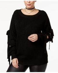 Soprano - Trendy Plus Size Tie-sleeve Sweater - Lyst