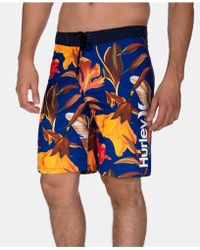 """Hurley - 20"""" Feather Graphic Board Shorts - Lyst"""