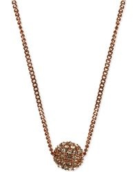 Givenchy - Necklace, Rose Gold-tone Crystal Fireball Pendant Necklace - Lyst