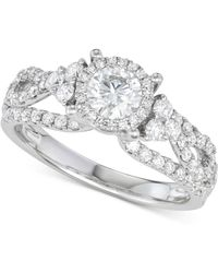 Macy's - Diamond Weave Engagement Ring (1-1/3 Ct. T.w.) In 14k White Gold - Lyst