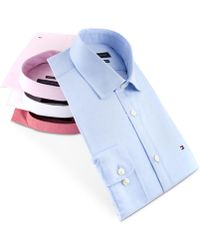 Tommy Hilfiger Slim-fit Stretch Solid Dress Shirt, Online Exclusive Created For Macy's - Pink