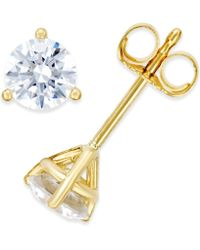 Macy's - Near Colorless Certified Diamond Stud Earrings In 18k White Or Yellow Gold (3/4 Ct. T.w.) - Lyst