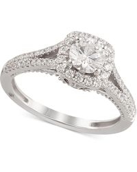 Marchesa - Certified Diamond Engagement Ring (1-1/4 Ct. T.w.) In 18k White Gold - Lyst