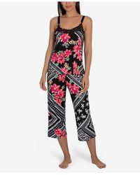 Linea Donatella Marabel Patch Cropped Pajama Set - Black