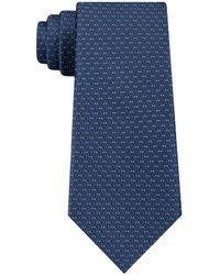 DKNY - Geo Building Block Slim Silk Tie - Lyst