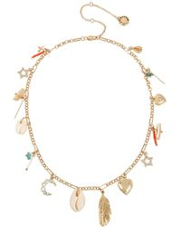 BCBGeneration - Shell Mixed Charm Frontal Necklace - Lyst