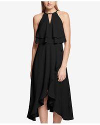Kensie - Ruffle Popover Halter Dress - Lyst