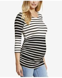 Jessica Simpson - Maternity Ruched Top - Lyst