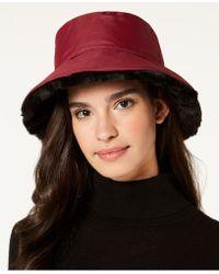 Nine West - Faux-fur Reversible Rain Bucket Hat - Lyst