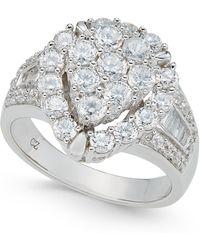 Macy's - Diamond Teardrop Cluster Ring (4 Ct. T.w.) In 14k White Gold - Lyst