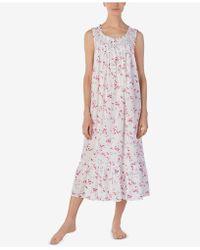 Eileen West - Printed Cotton Ballet-length Nightgown - Lyst
