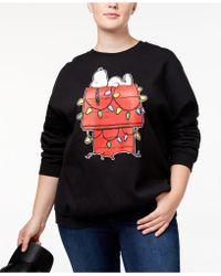 Hybrid | Trendy Plus Size Snoopy Graphic-print Sweatshirt | Lyst