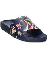 Polo Ralph Lauren Cayson Slide Sandals - Blue