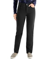 Style & Co. High Rise Natural Straight-leg Jeans, Created For Macy's - Black