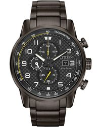 Citizen - Men's Chronograph Eco-drive Primo Gray Stainless Steel Bracelet Watch 45mm - Lyst