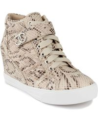 Juicy Couture Journey Wedge Sneakers - Natural
