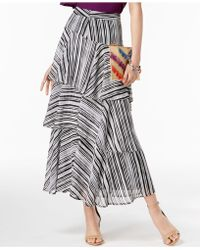 INC International Concepts | I.n.c. Printed Tiered Skirt, Created For Macy's | Lyst