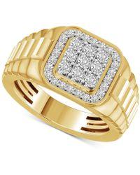 Macy's Diamond Cluster Ring (1/2 Ct. T.w.) In 10k Gold - Metallic