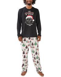 Munki Munki Star Wars Holiday Traditions Family Pajama Set - Gray