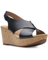Clarks - Annadel Eirwyn Wedge Sandals - Lyst