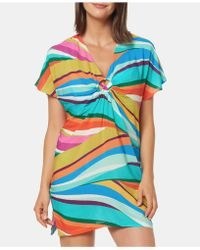 Bleu Rod Beattie - Printed Cover-up Dress - Lyst