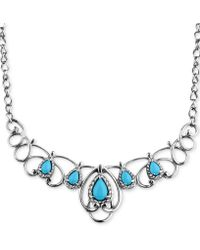Carolyn Pollack - Turquoise Statement Necklace (2-1/6 Ct. T.w.) In Sterling Silver - Lyst