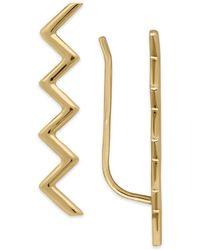 Macy's - Zigzag Ear Climber Earrings In 14k Gold, 1 Inch - Lyst