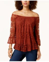Style & Co. - Plus Size Off-the-shoulder Lace Flounce Top, Created For Macy's - Lyst