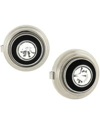 1928 Faceted Crystal Button Cover - Black