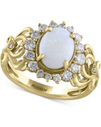 Effy Collection | Opal (9/10 Ct. T.w.) & Diamond (1/2 Ct. T.w.) Ring In 14k Gold | Lyst