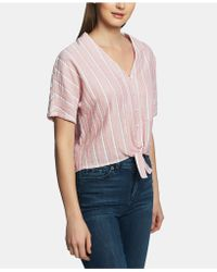 1.STATE Striped Tie - Front Shirt - Pink