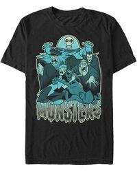 Fifth Sun Monsters Portrait Short Sleeve T-shirt - Black