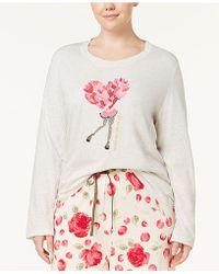 Hue - Plus Size Heart-graphic Pyjama Top - Lyst