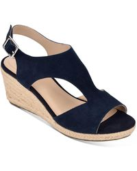 Bandolino Natasha Espadrille Wedge Sandals - Blue