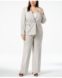 Tahari - Plus Size One-button Pantsuit - Lyst