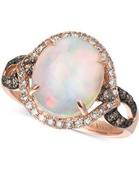 Le Vian | Opal (2-1/3 Ct. T.w.) And Diamond (1/2 Ct. T.w.) Statement Ring In 14k Rose Gold | Lyst