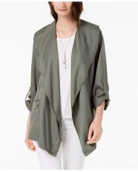 Style & Co. - Draped Asymmetrical Utility Jacket, Created For Macy's - Lyst
